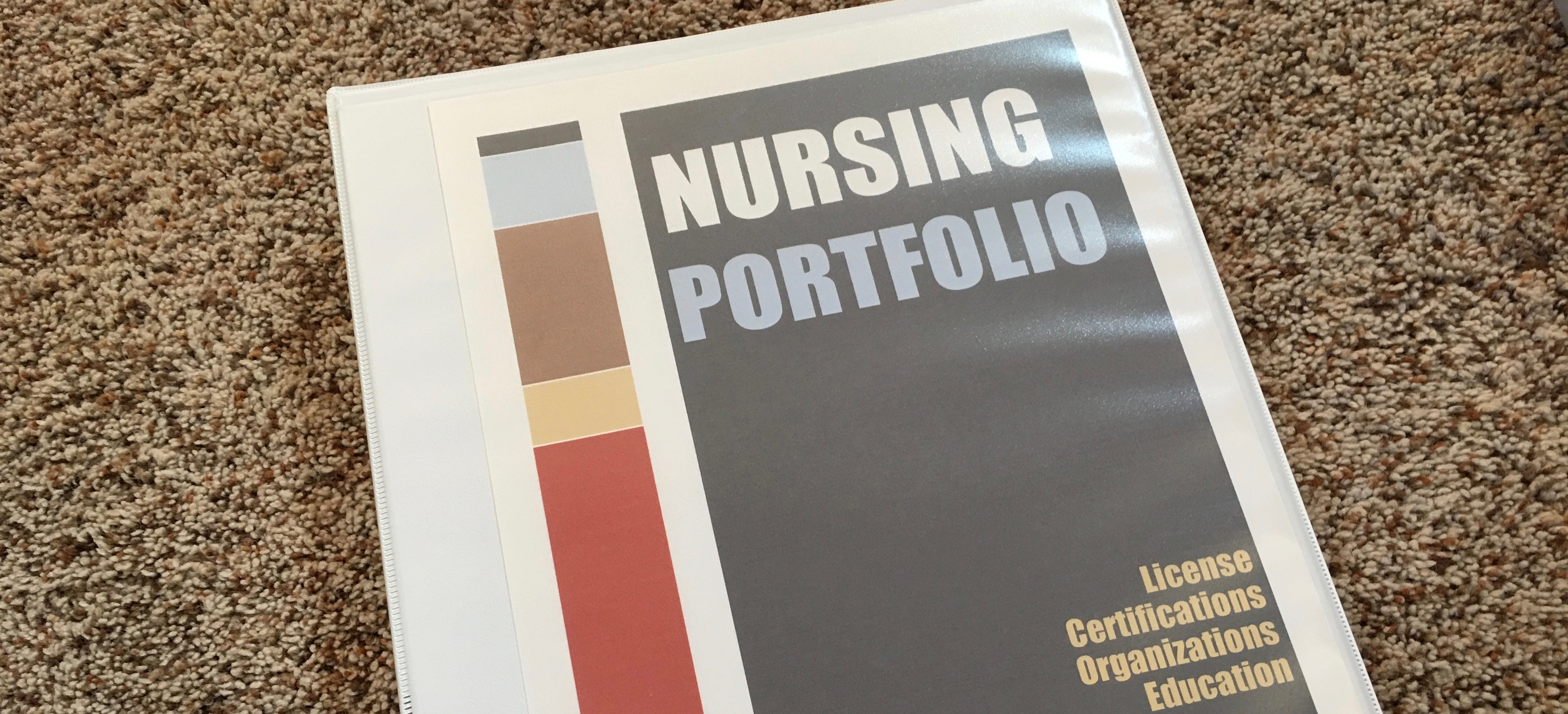 Nursing Portfolio Keep CE CEU Memberships Licensure Organized